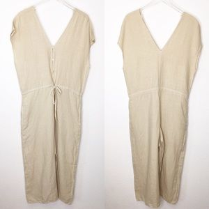 NWOT Cloth and Stone Linen Jumpsuit
